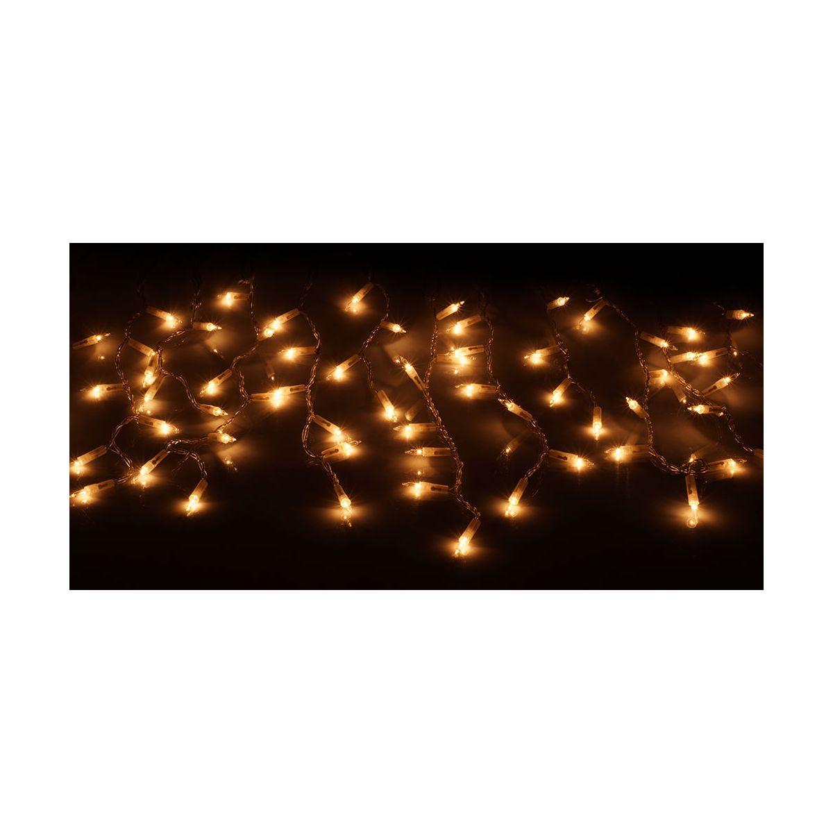 Lampki choinkowe 'sople' LWS-100 G  barwa ciepła