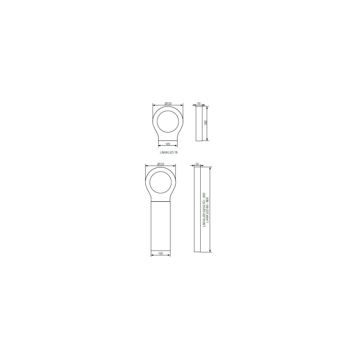 Oprawa ogrodowa LAVIA LED 50-SO (23563)