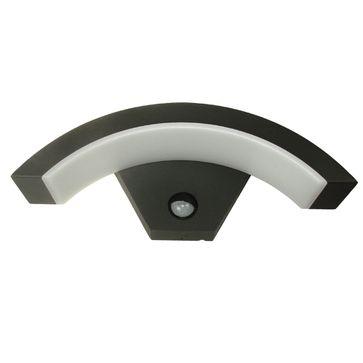 Kinkiet LED RISTON 6,5W czarna IP54 z czujnikiem barwa ciepła