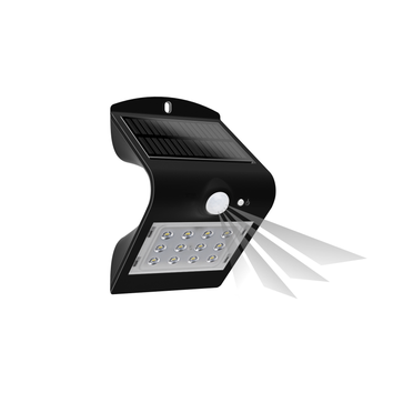 Lampa solarna SILOE LED z czujnikiem ruchu IP65, czarna OR-SL-6083BLR4