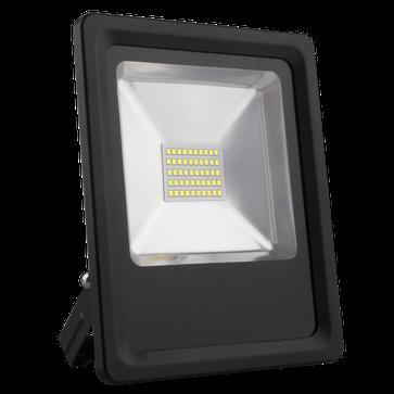 Naświetlacz LED SMD 30W czarny - barwa ciepła