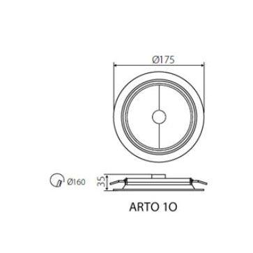 Oprawa ARTO 1O srebrna okrągła
