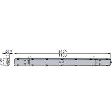 Oprawa przemysłowa HERMETIC LINX FLAT 150 50W barwa neutralna