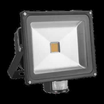 Naświetlacz LED COB PIR 50W czarny - ciepła biała