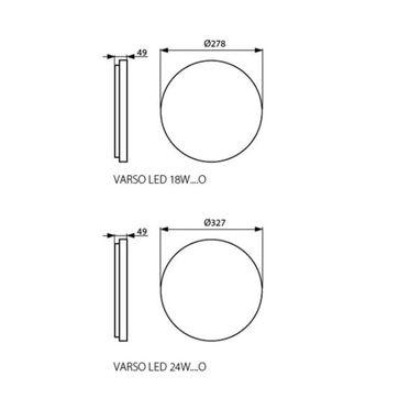 Plafony VARSO LED 18W - 24W okrągłe