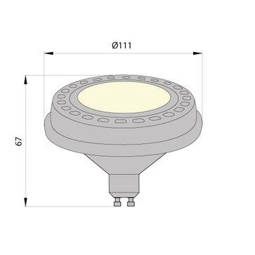 Żarówka AR111 POWER GU10 SMD 24W barwa neutralna