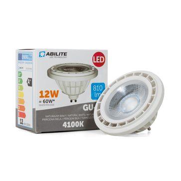 Żarówka LED AR111 12W GU10 45° biała